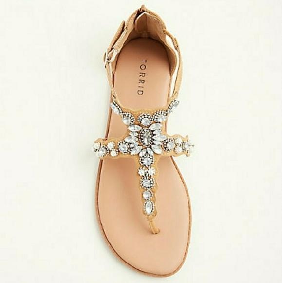 7399af7c8d6 Torrid sz 9.5 wide width rhinestone sandals